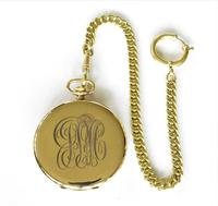 1930s Tempo Pocket Watch & Chain (3 of 4)