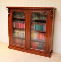 Late 19th Century Glazed Two Door Bookcase (5 of 7)