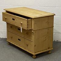 Large Old Pine Chest Of Drawers (4 of 4)