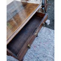 Queen Anne Walnut & Oak Side Table (6 of 6)