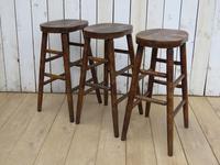 Set of Three Oak Bar Stools (6 of 8)