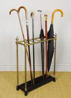 Late Victorian Brass & Cast Iron Stick Stand (3 of 6)