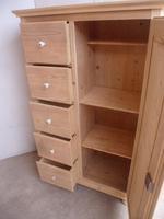 Victorian Tall Antique Pine 5 Drawer Kitchen Storage Cupboard to wax / paint (9 of 9)