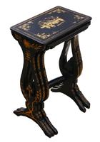 Victorian Chinoiserie Nest of Decorated Black Lacquer Tables (2 of 6)