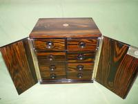Rare Calamander Cabinet of Drawers. Very Versatile. c1880 (8 of 19)