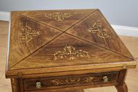 Victorian Rosewood Envelope Card Table (12 of 12)