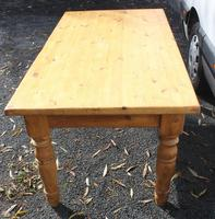 1940's Country Pine Dining Table with Turned Legs (3 of 3)