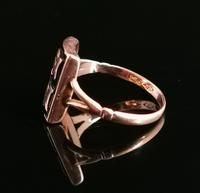 Antique Victorian Mourning Ring, Initial C, 9ct Rose Gold (5 of 10)