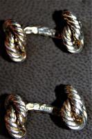 Superb Pair of Hermes of Paris Silver Hallmarked Cufflinks in their Original Box (3 of 7)