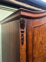 Antique Burr Walnut Single Wardrobe (8 of 11)
