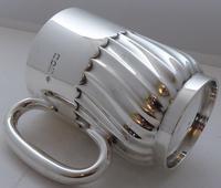 1908 Hallmarked Solid Silver 1/2 Pint Tankard Christening Mug 205g by W Hutton (8 of 10)