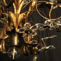 Italian Gilded Florentine 5 Light Plaffonier (8 of 10)
