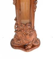 Carved Italian Grandfather Clock Walnut Cherubs (3 of 16)