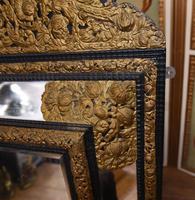 Antique French Cushion Mirror Metal Mounts Circa 1880 (7 of 11)