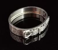 Antique Victorian Silver Buckle Bangle (9 of 11)