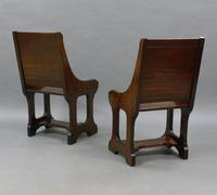 A Pair 19th Century Of Hall Chairs (3 of 6)