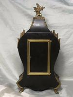 Large Fine Louis XVI Style Gilt Ormolu Marquetry Boulle Mantle 8 Day Clock (9 of 12)
