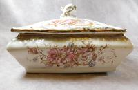 """19th Century S. Fielding & Co """"Sevres"""" Pattern Lidded Dish (2 of 5)"""