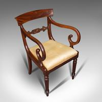 Antique Elbow Chair, English, Mahogany, Carver, Drop-in Seat, Regency c.1820 (7 of 12)