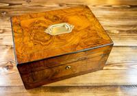 Burr Walnut Work Box Victorian 1870 (6 of 9)