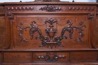 Beautiful Carved Walnut European King Size Bed (3 of 13)