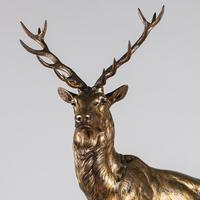 Stunning 19th Century French Bronze Sculpture of Stag, Signed J.E.Masson (8 of 10)