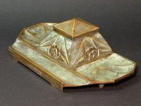 Parisian bronze caster  Inkwell. (6 of 8)