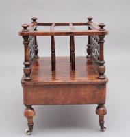 19th Century Burr Walnut Canterbury of Nice Proportions (6 of 10)