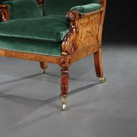Rare Late Regency Yew Wood Library Bergere Armchair (8 of 9)