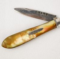 Silver Fruit Knife 1879-80 Martin Hall & Co Sheffield (4 of 4)