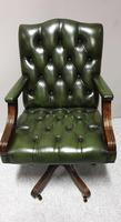 Good Green Leather Desk Chair (2 of 9)