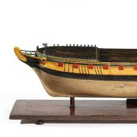 Carved & painted model of HMS Emerald, 1811 and 'HMS Emerald & HMS Amethyst' by Pocock (4 of 17)