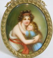 Antique Porcelain Portrait Miniature Madame le Brun (3 of 5)