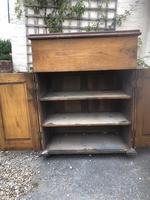 Antique Oak Clerk's Desk with Cupboard (2 of 11)