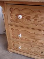 Georgian Pretty Moulded Antique Pine Chest of Drawers to wax / paint (7 of 13)
