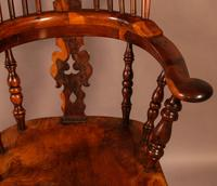 Superb Yew Wood Broad Arm Windsor Chair Worksop maker (3 of 5)