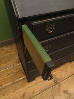 Antique Painted Black Writing Bureau Desk with fall front, lockable, Gothic (9 of 10)