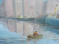 Oil on board seascape Shoreham Power Station Listed Artist Max Parsons ARCA (7 of 10)