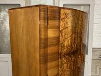 Burr Walnut Art Deco Double Wardrobe (9 of 12)