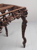 Victorian French Carved Fruitwood & Marble Top Console Table (12 of 19)