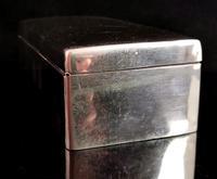 Antique Silver Cigarette Box, Heavy, Edwardian (3 of 13)