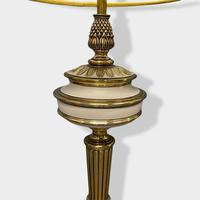 Pair of Enamel & Brass Lamps (4 of 6)