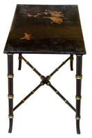 Black Lacquer Rectangular Low Table c.1920