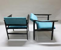 Pair of Italian Mid Century Ebonised Armchairs (4 of 7)