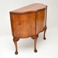 Antique Queen Anne Style Burr Walnut Cabinet (3 of 8)
