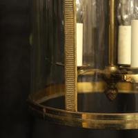 French Gilded Triple Light Antique Lantern (7 of 10)
