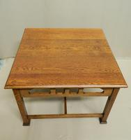 Arts & Crafts Oak Coffee Table (2 of 7)