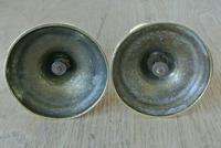 Fine Pair of 19th Century English Brass Candlesticks 18th Century Style (5 of 6)