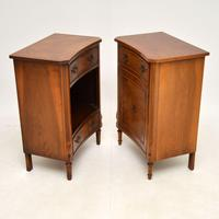 Pair of Georgian Style Burr Walnut Bedside Cabinets c.1930 (11 of 11)