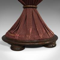 Antique Upholstered Stool, English, Walnut, Footstool, Tabouret, Regency, 1820 (2 of 9)
